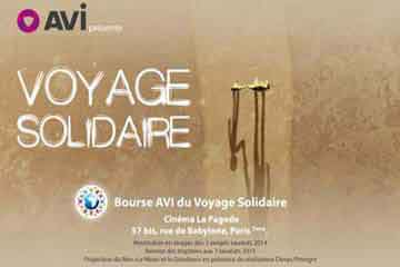 affiche Bourse AVI International voyage solidaire 2015